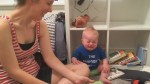 Bookworm baby can't stand it when book ends